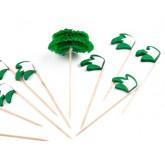 Piques palmiers (x12) vert