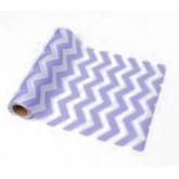 Chemin de table chevron lavande en tissu