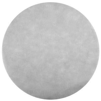 Sets de table ronds gris en non tissé (x50)