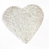 Sets coeur en sisal (x6) argent