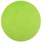 Sets de table ronds vert anis en non tissé (x50)