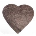 Sets coeur en sisal (x6) chocolat