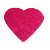 Sets coeur en sisal (x6) fuchsia