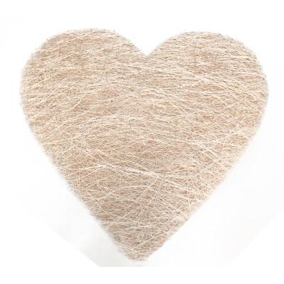 Sets coeur en sisal (x6) ivoire