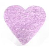 Sets coeur en sisal (x6) parme