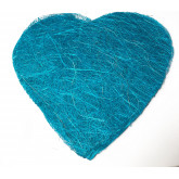 Sets coeur en sisal (x6) turquoise