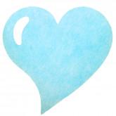 Sets de table coeur en non tissé bleu ciel (x50)