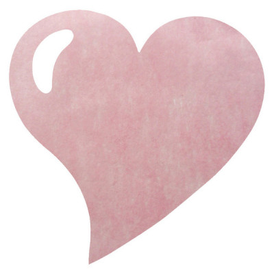 Sets de table coeur en non tissé rose (x50)