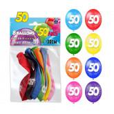 Ballons 50ans (x8)