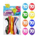 Ballons 70ans (x8)