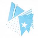 Guirlande de fanions bleus (x50)