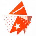 Guirlande de fanions rouges (x50)