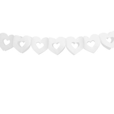 Guirlande coeurs blanc