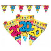 Guirlande fanions 20 ans multicolore