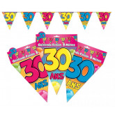 Guirlande fanions 30 ans multicolore