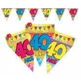 Guirlande fanions 40 ans multicolore