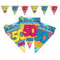 Guirlande fanions 50 ans multicolore