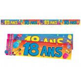 Bannière 18 ans multicolore