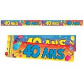 Bannière 40 ans multicolore