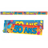Bannière 50 ans multicolore