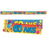 Bannière 60 ans multicolore