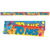 Bannière 70 ans multicolore
