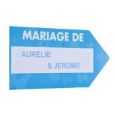 Flèche signalétique de couleur MARIAGE DE turquoise / blanc