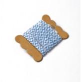 Ruban de tissu chevron turquoise