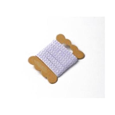 Ruban de tissu chevron lavande