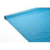 Nappe unie damassée turquoise