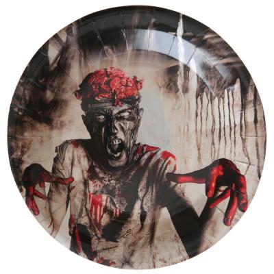 Assiettes Zombie x10