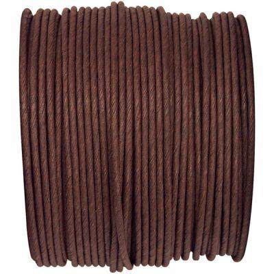 Ruban corde laitonné de couleur chocolat