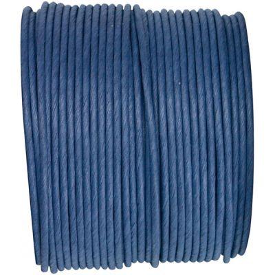 Ruban corde laitonné de couleur marine