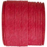Ruban corde laitonné de couleur rouge