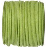 Ruban corde laitonné de couleur vert anis