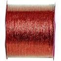 Cordelette laitonnée métallisée rouge