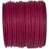 Ruban corde laitonné de couleur bordeaux