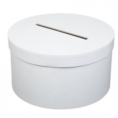 Urne cartonnée ronde blanche