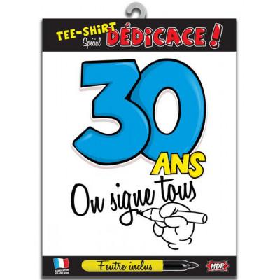 Tee-shirt anniversaire à signer 30 ans type