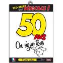 Tee-shirt anniversaire à signer 50 ans type