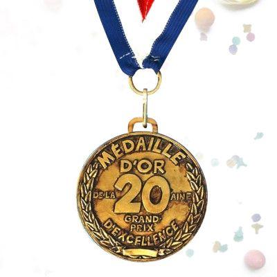 Médaille d'or des 20 ans