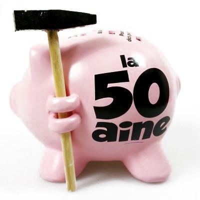 Tirelire cochon 50 aine