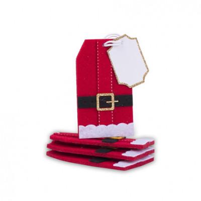 Etiquettes marque-places père Noël x8
