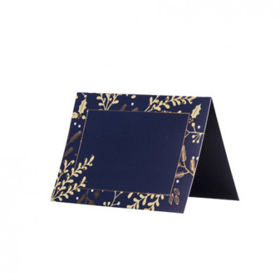 Marque-places hivernales marine or x8