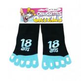"""Chaussettes orteils """"18 ans"""" noir"""