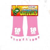 """Chaussettes orteils """"18 ans"""" rose"""