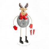 Grand Renne rigolo de Noël en métal