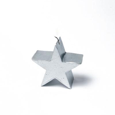 Bougie étoile argent 7.5cm