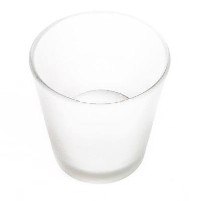 Photophore en verre dépoli blanc