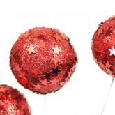 Boule pic étoiles rouge (x3)